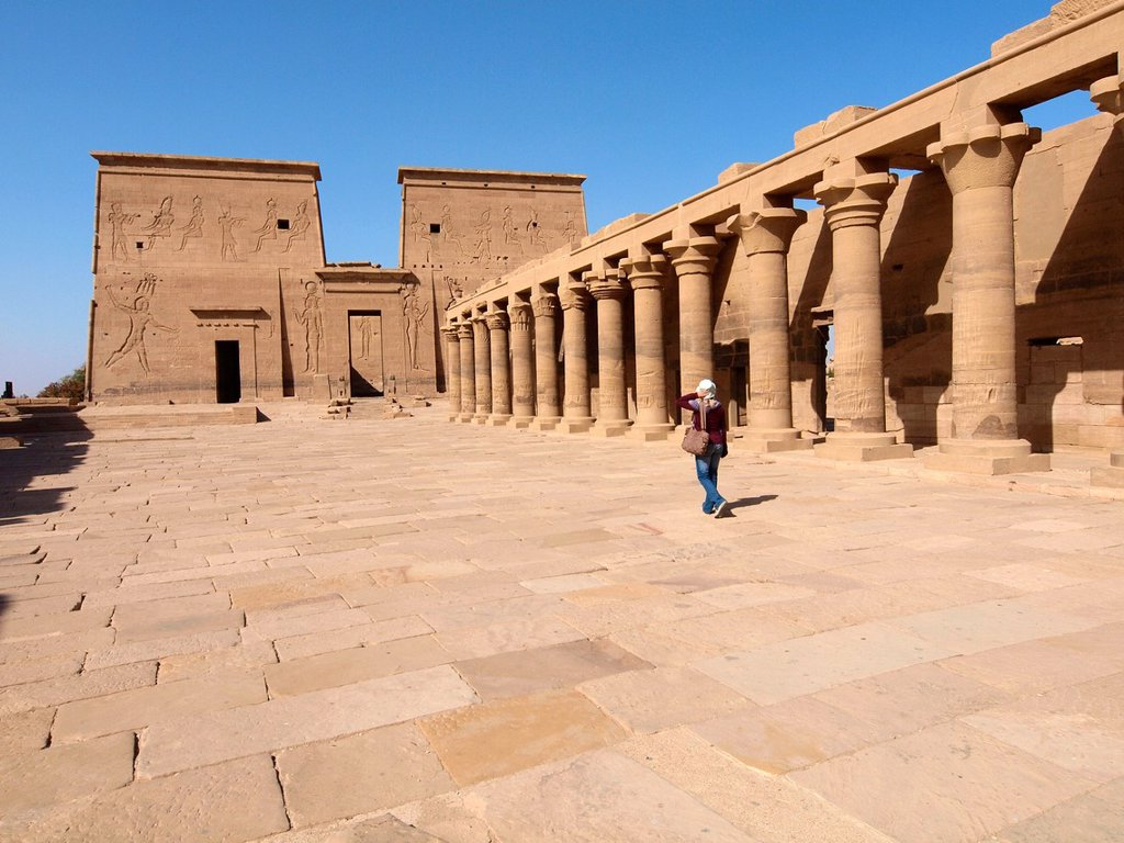 Stock Photo: 1566-1080894 Philae, Isis Temple, Aswan, Upper Egypt