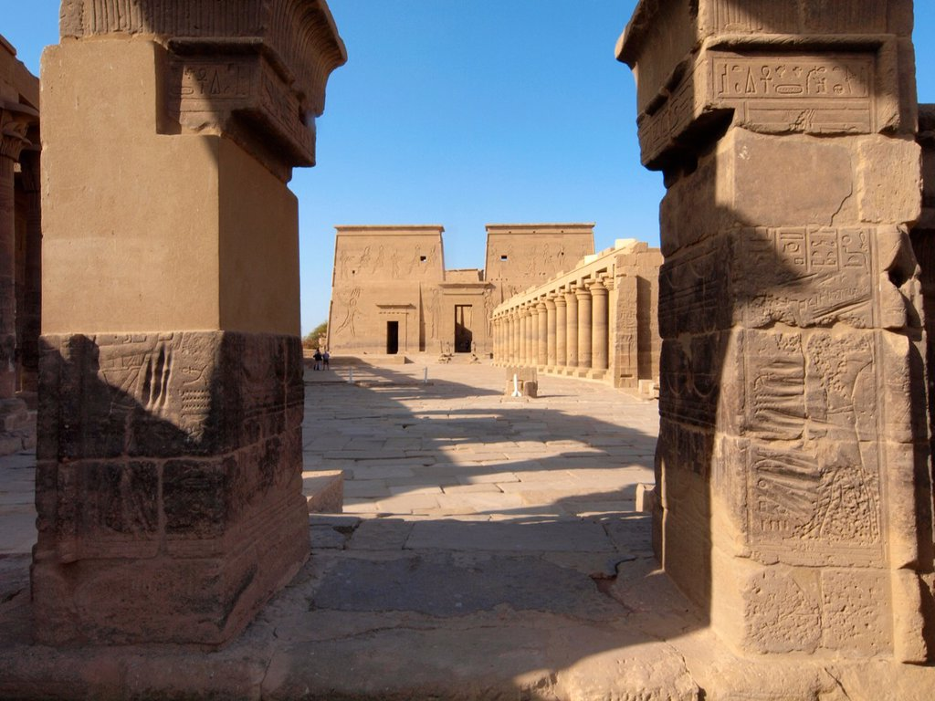 Stock Photo: 1566-1081589 Philae, Isis Temple, Aswan, Upper Egypt