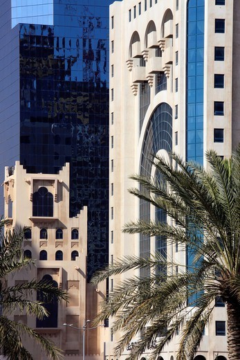 Qatar, Doha, modern architecture detail. : Stock Photo