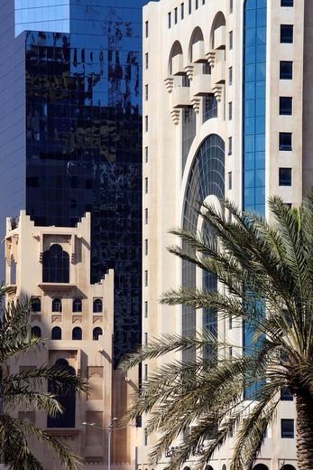 Stock Photo: 1566-1081881 Qatar, Doha, modern architecture detail.