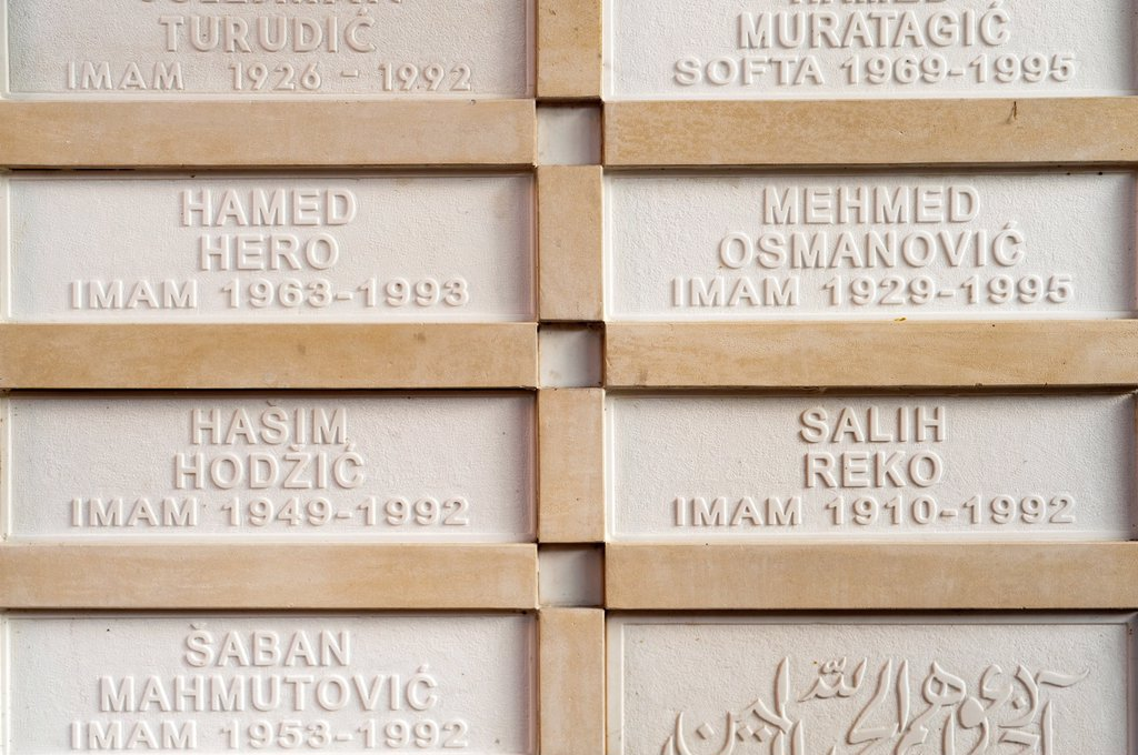 Stock Photo: 1566-1082067 Gravestones, Gazi Husrev-bey madrassa and khaniqah, Sarajevo, Bosnia and Herzegovina, Europe