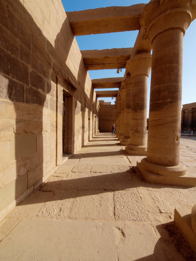 Philae, Isis Temple, Aswan, Upper Egypt : Stock Photo