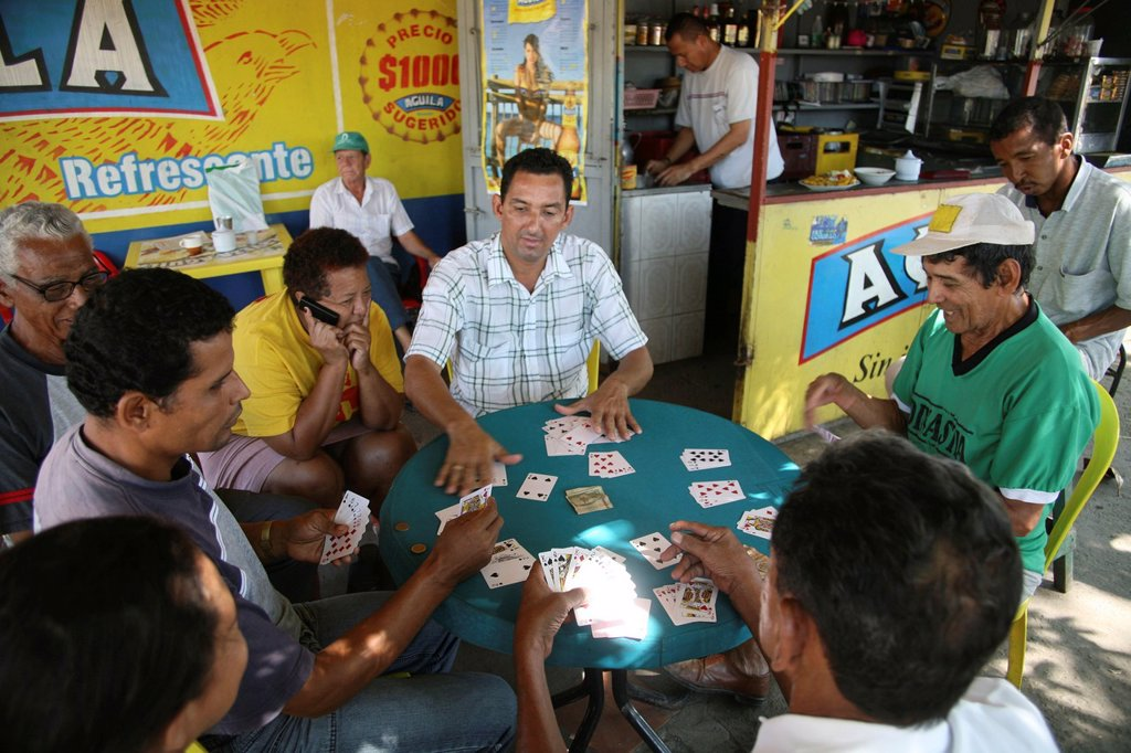 Stock Photo: 1566-1082824 Local people playing cards