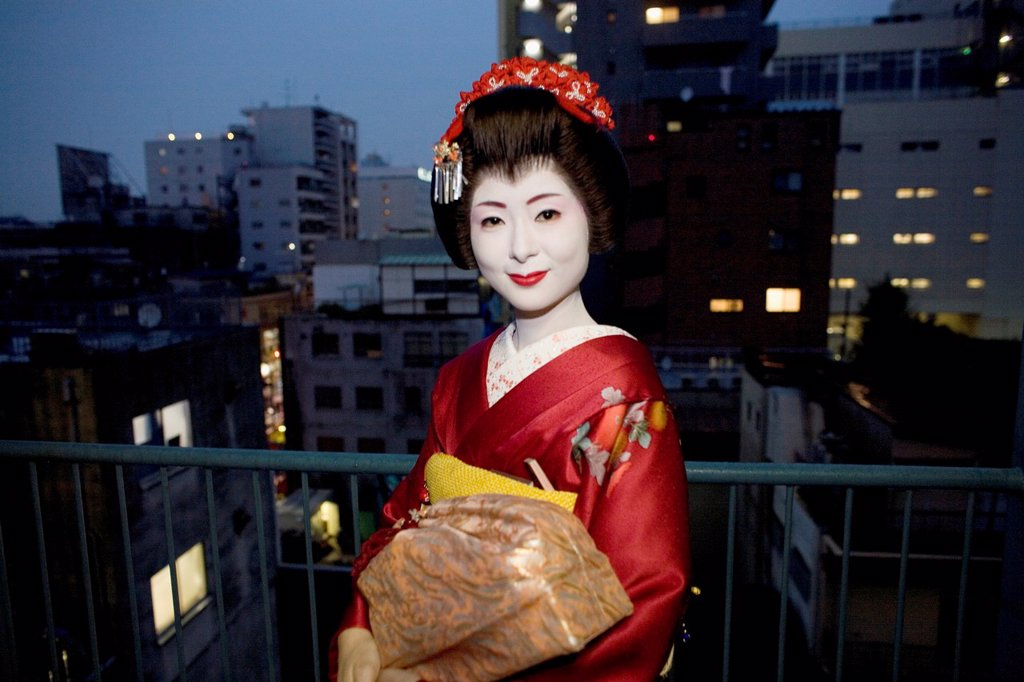 Stock Photo: 1566-1083163 Geishas are famous in Japan The concept has a long history and goes back several centuries where geishas were for entertainment for rich japanese people They are well trained in dance, language, music instruments and etiquette Nowadays, geishas still p