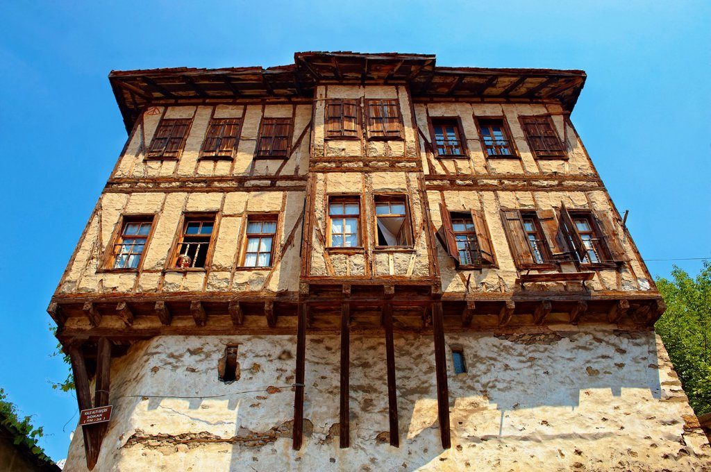 Stock Photo: 1566-1083290 Ottoman style houses of Safranbolu, Turkey  Safranbolu´s architecture influenced urban development throughout much of the Ottoman Empire and was a major centre of the saffron Trade  UNESCO World Heritage Site