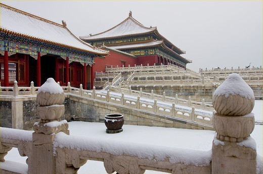 Stock Photo: 1566-1083392 The Forbidden City in Winter  Beijing  China.
