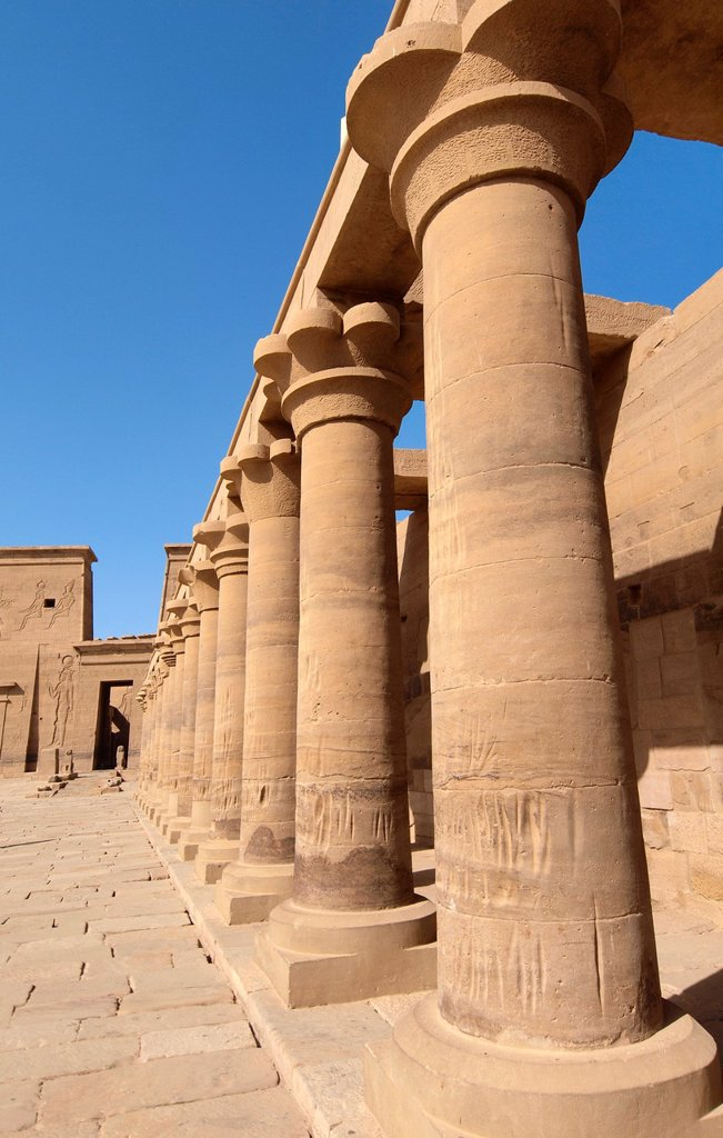 Stock Photo: 1566-1083397 Philae Temple Isis Temple  Aswan  High Egypt