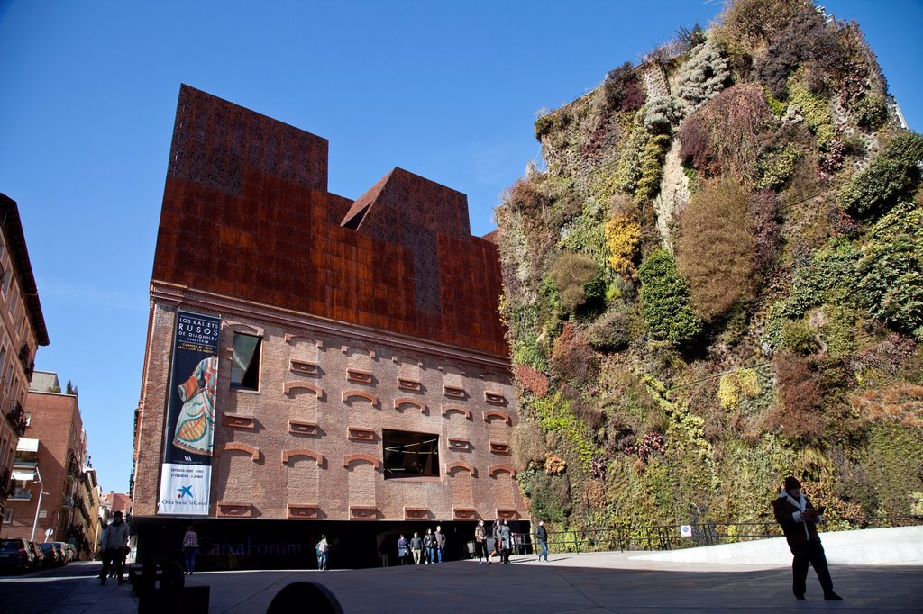 Caixa Forum Madrid contemporary art museum, Madrid, Spain, Europe : Stock Photo