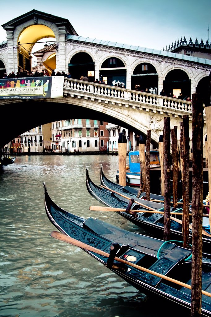 Stock Photo: 1566-1083541 grand canal and gondolas  Venice, Italy