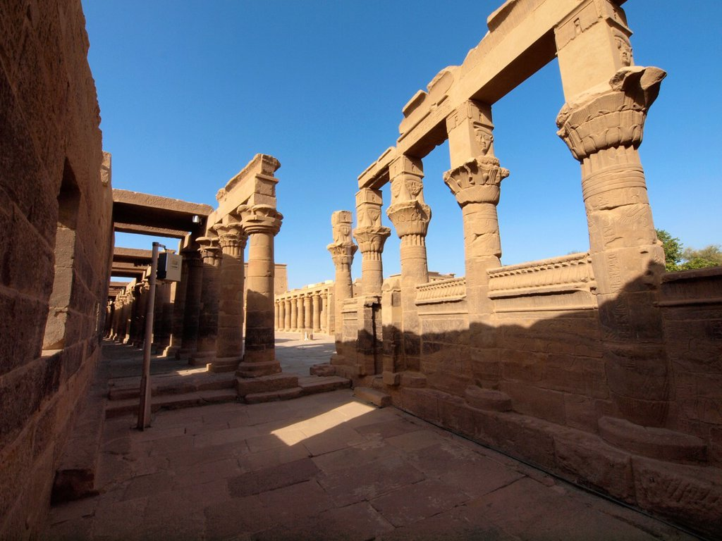 Stock Photo: 1566-1083735 Philae, Isis Temple, Aswan, Upper Egypt