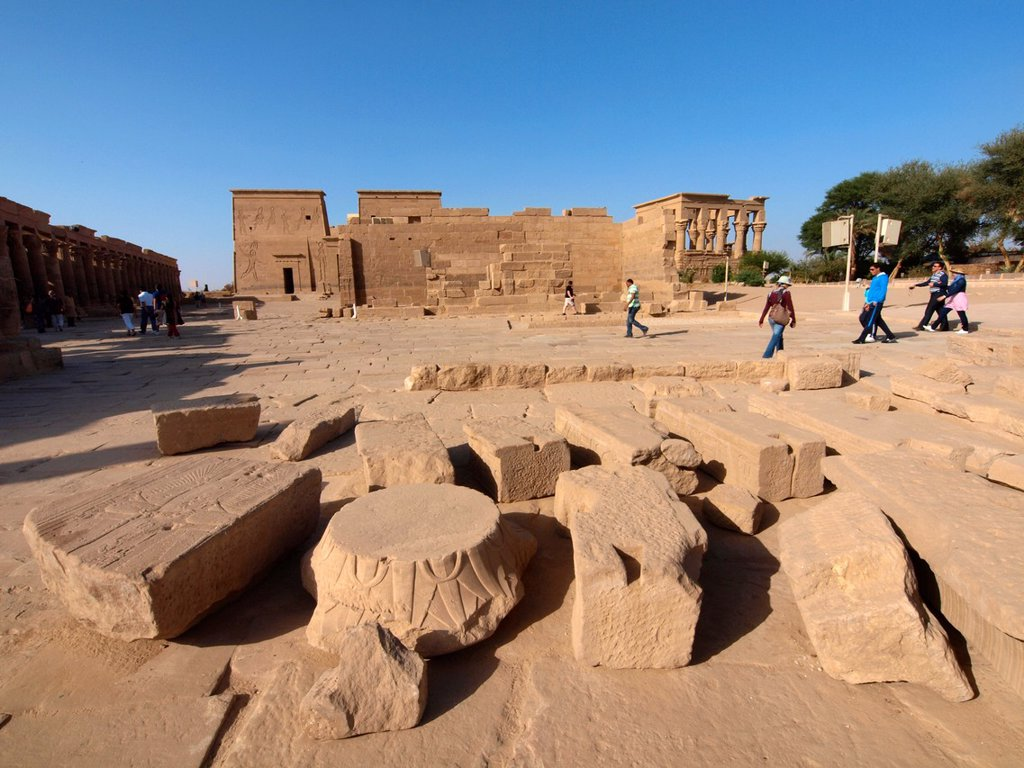 Stock Photo: 1566-1083736 Philae, Isis Temple, Aswan, Upper Egypt