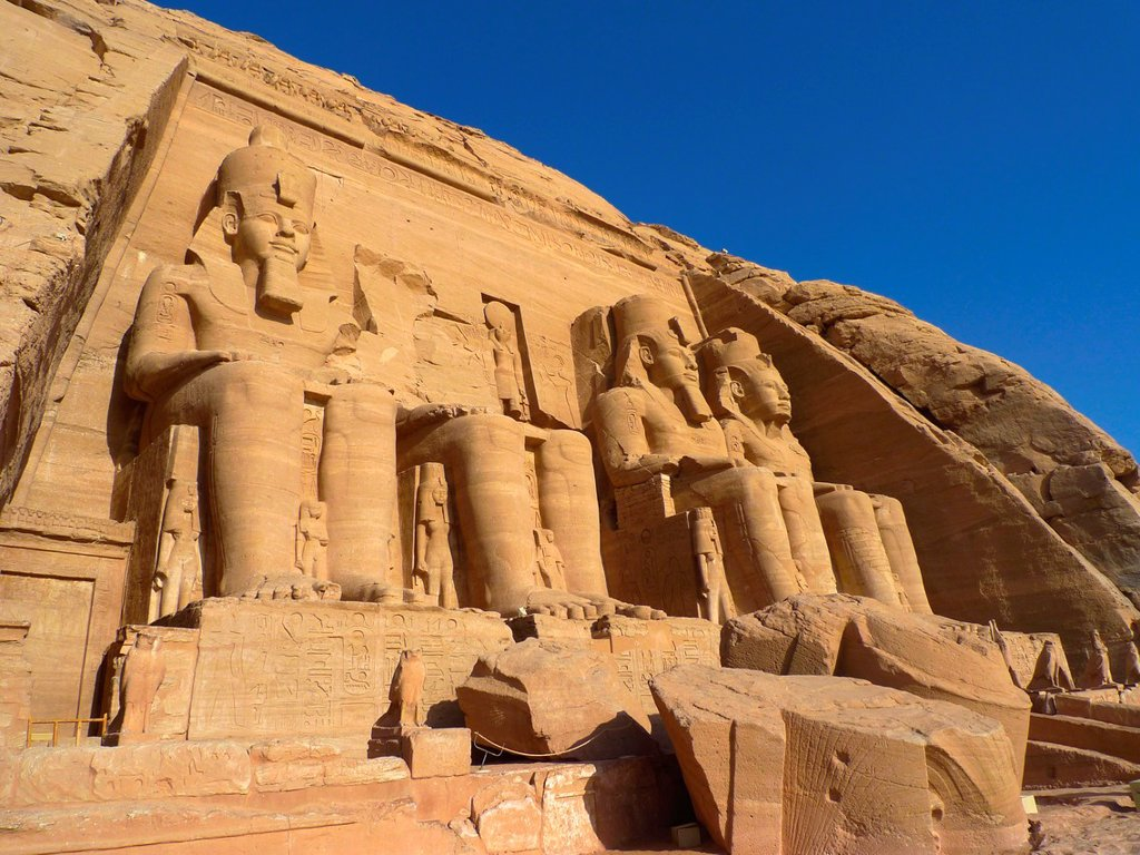 Abu Simbel temple of Ramses II  Nasser Lake  High Egypt : Stock Photo