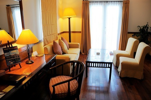 Vietnam, Can Tho province, Mekong Delta, Can Tho Hotel Victoria. : Stock Photo