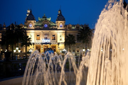 Stock Photo: 1566-1084327 Casino Monte Carlo, Cote d Azur.