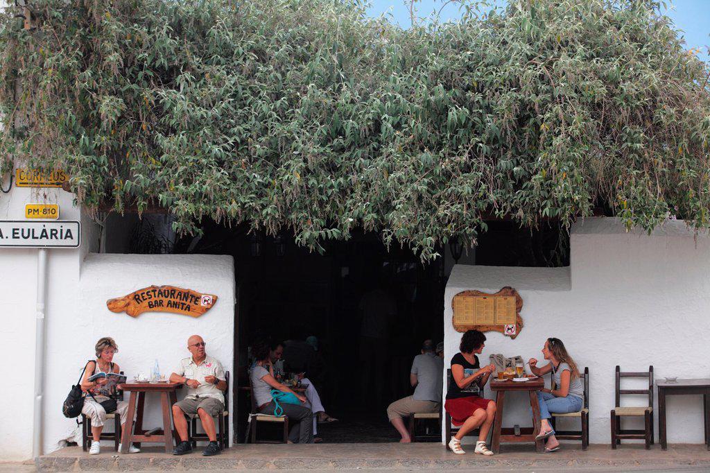 Stock Photo: 1566-1084336 Anitas bar at Sant Carles de Peralta at Ibiza, Balearic Islands