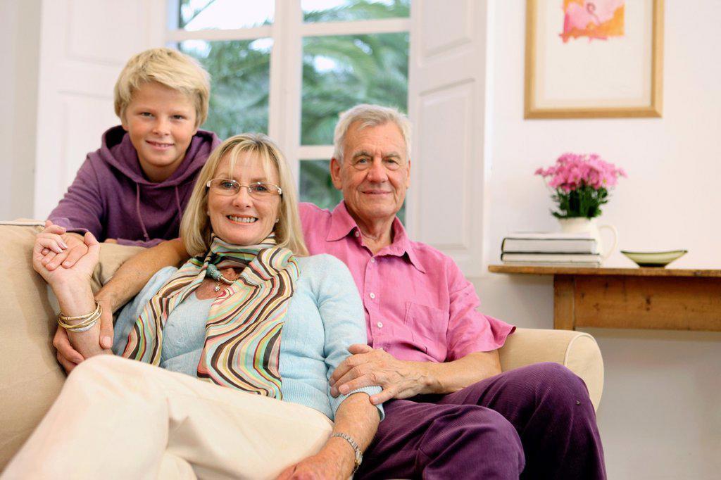 Stock Photo: 1566-1084946 Senior couple with grandson