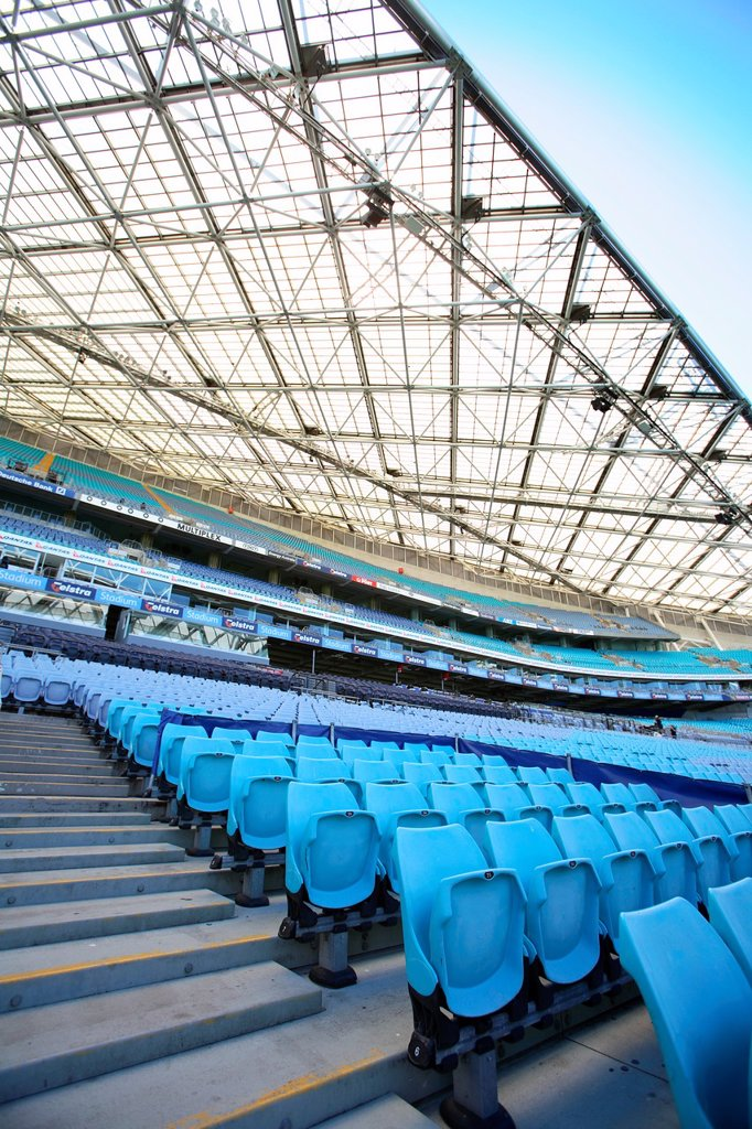 Stadium Australia at Sydney Olympic Park  Homebush bay, Sydney, Australia : Stock Photo
