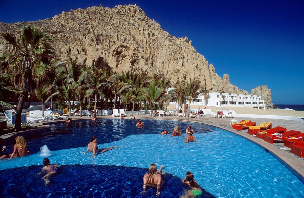 Hotel Pool at Cabo San Lucas : Stock Photo