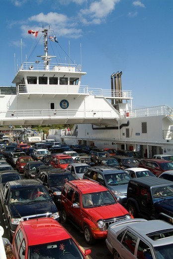 British Columbia Ferries boat, Canada : Stock Photo