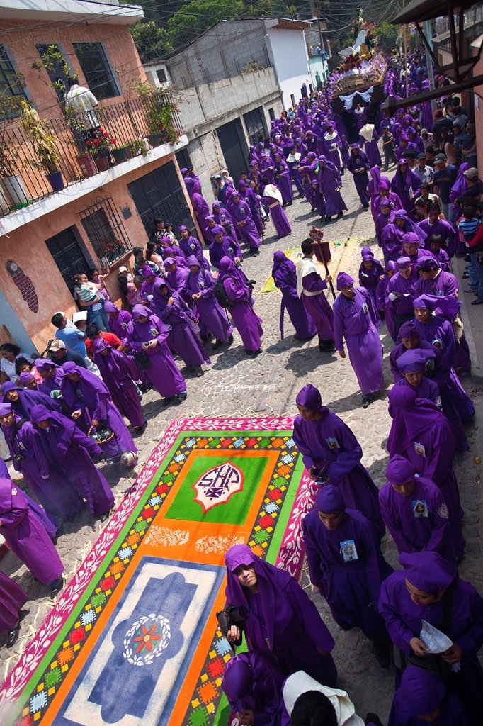 Holy Week procession, Santa Ana, Guatemala : Stock Photo