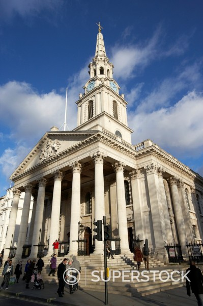 St Martin in the fields church London England UK United kingdom : Stock Photo