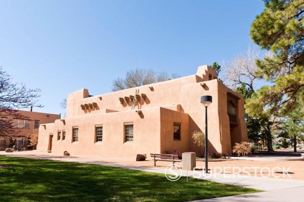 Stock Photo: 1566-1087136 Alumni Memorial Chapel, UNM, Albuquerque