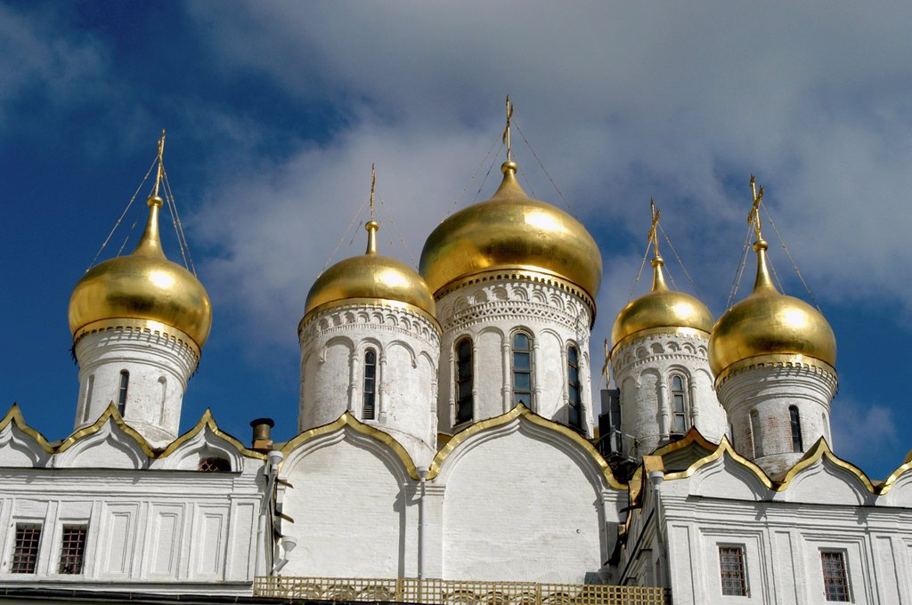 Russia, Moscow, Kremlin, Annunciation Cathedral 1484-89 : Stock Photo