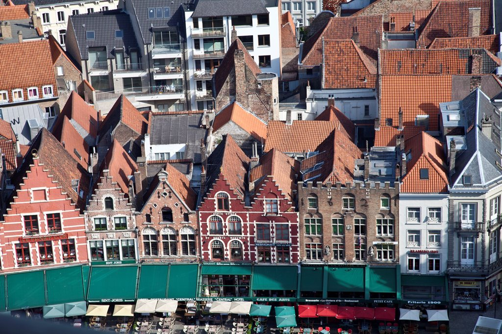 Markt Square, the main square of Brugge, Flanders, Belgium : Stock Photo