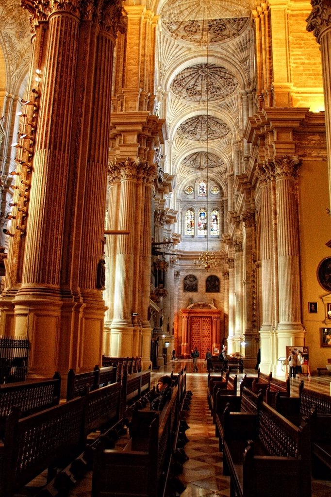 Cathedral of the Incarnation, Malaga, Costa del Sol, Andalucia, Spain, Europe, aged, ancien, ancient, Andalusian, Andaluz, Andaluza, Arcade, Arch, Architecture, Art, Attraction, Building, Calm, Capital, Christian, Christian Art, Christianity, Church, City. Cathedral of the Incarnation, Malaga, Costa del Sol, Andalucia, Spain, Europe, aged, ancien, ancient, Andalusian, Andaluz, Andaluza, Arcade, Arch, Architecture, Art, Attraction, Building, Calm, Capital, Christian, Christian Art, Christianity,  : Stock Photo