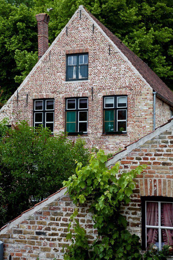 Stock Photo: 1566-1088458 Abbey Beginenhof, Bruges, Flanders, Belgium