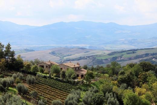 Celle sul Rigo Val d´Orcia, Tuscany, Italy. : Stock Photo