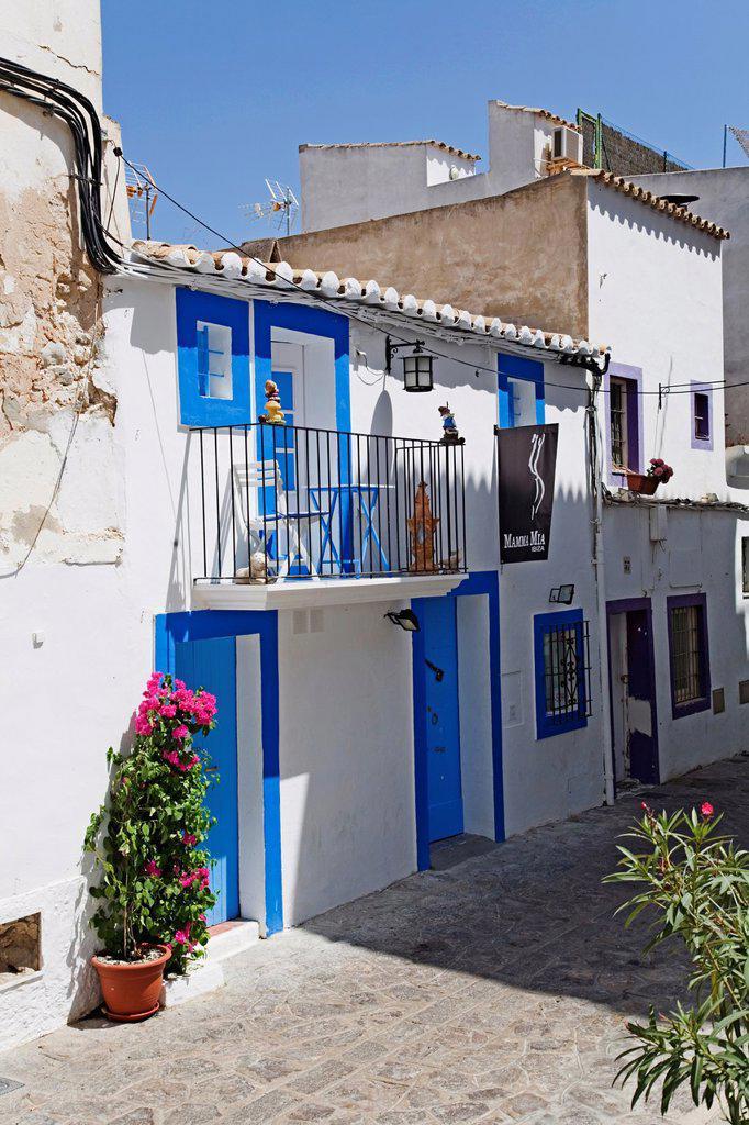 Stock Photo: 1566-1088942 D´alt Vila, Oldtown, Ibiza, Balearic Island, Spain