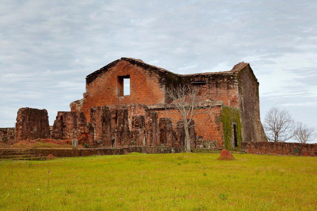 Jesuit Missions of la Santisima Trinidad de Parana, Paraguay : Stock Photo