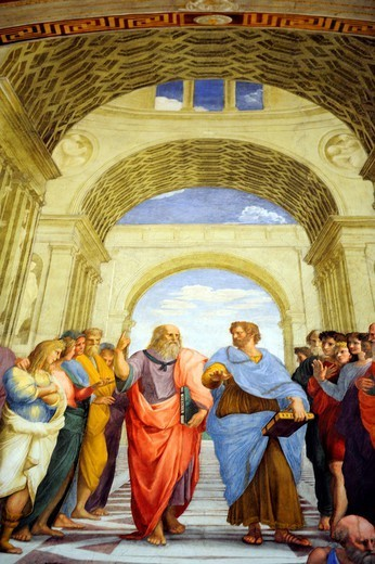 Rome, Italy  Vatican Museums, the Raphael´s rooms. : Stock Photo