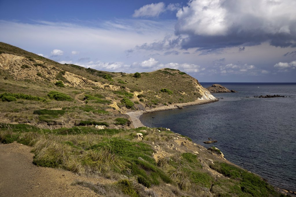 Cami de Cavalls, GR 223, Menorca Balearic Islands Spain : Stock Photo