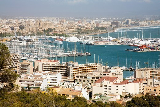 Spain. Balearic Islands. Mallorca. Palma de Mallorca. View of the city. : Stock Photo