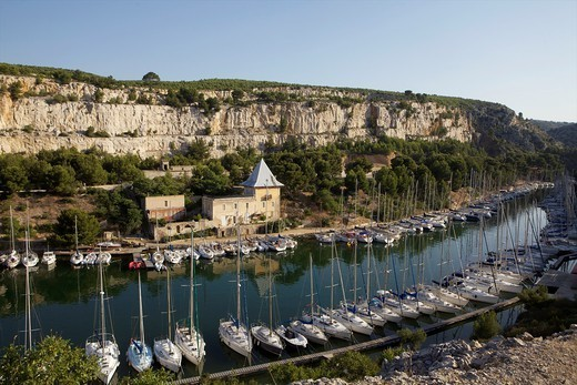 Les Calanques next to Cassis, Costa Azur, France. : Stock Photo