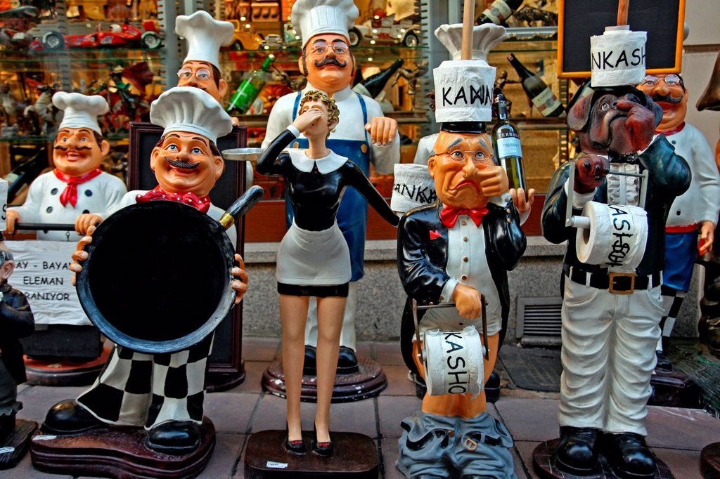 cooks dolls, Istanbul, Turkey. : Stock Photo