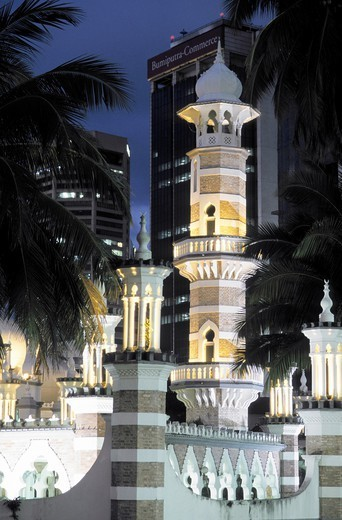 Stock Photo: 1566-1092954 Malaysia, Kuala Lumpur, Masjid Jamek, Friday Mosque.
