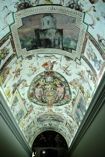 Stock Photo: 1566-1093241 Rome, Italy  Paintings on the ceiling of the Vatican Museums