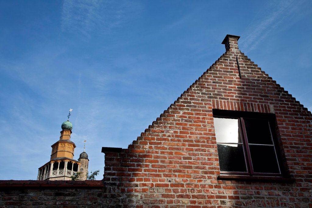 Stock Photo: 1566-1094462 Architecture detail in Bruges, Flanders, Detail