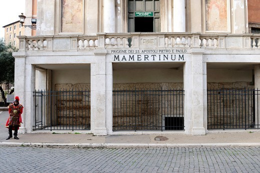 Rome, Italy  The ´Mamertinum´ former prison of the apostles Peter and Paul. : Stock Photo