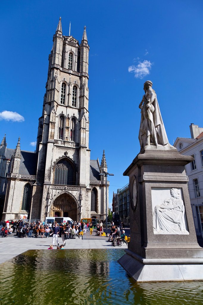 Cathedral of San Bavon in Ghent, Belgium, Europe : Stock Photo