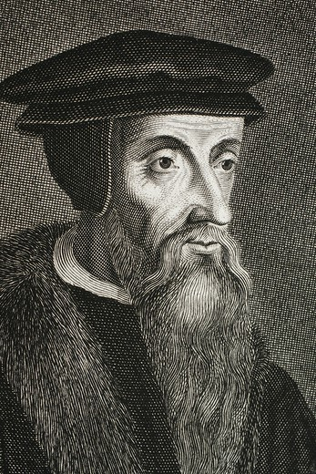 Stock Photo: 1566-1096103 Calvin, French theologian and pastor during the Protestant Reformation