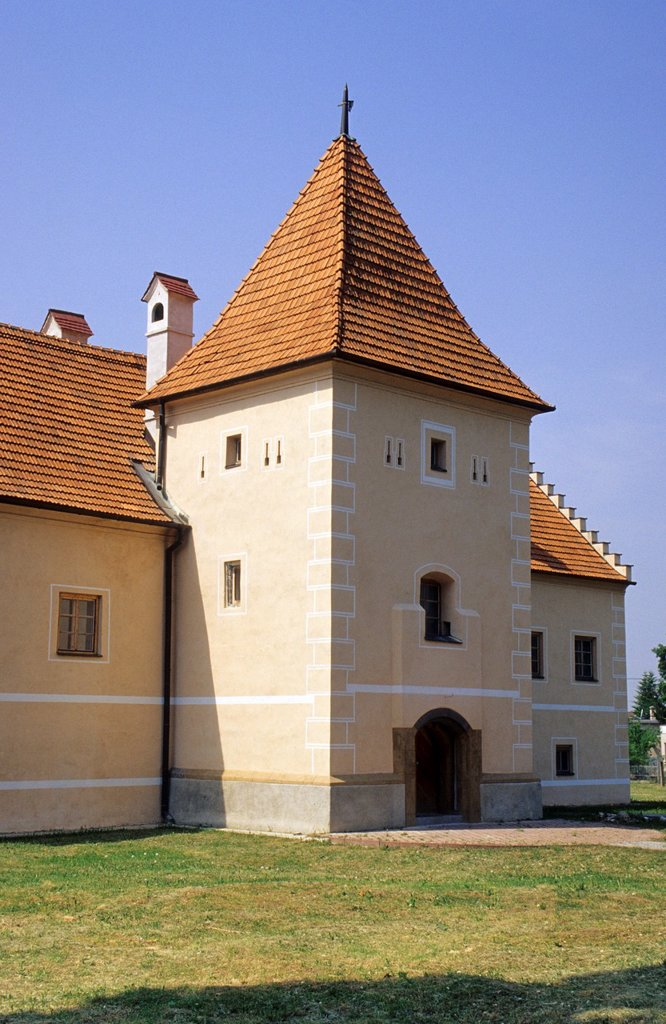 Stock Photo: 1566-1096285 The manor house at Simonovany near Partizanske Slovakia from late gothic and early renaissance period