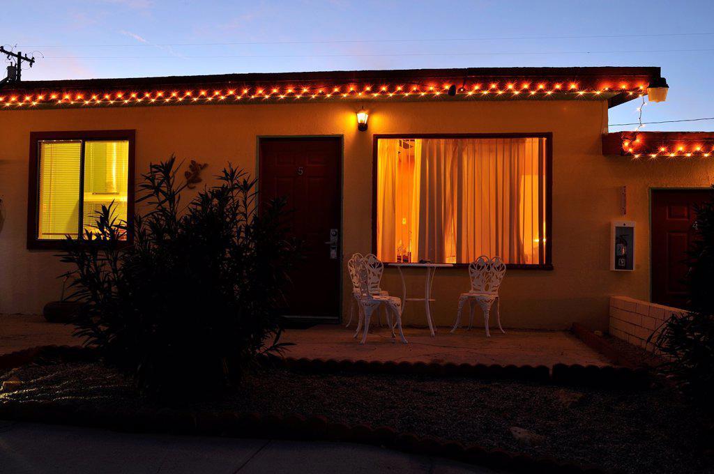 Stock Photo: 1566-1096720 Harmony Motel, 29 Palms, Mojave Desert, California, USA