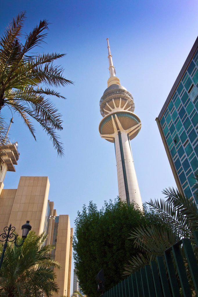 Stock Photo: 1566-1097486 Liberation Tower, Kuwait city, Kuwait