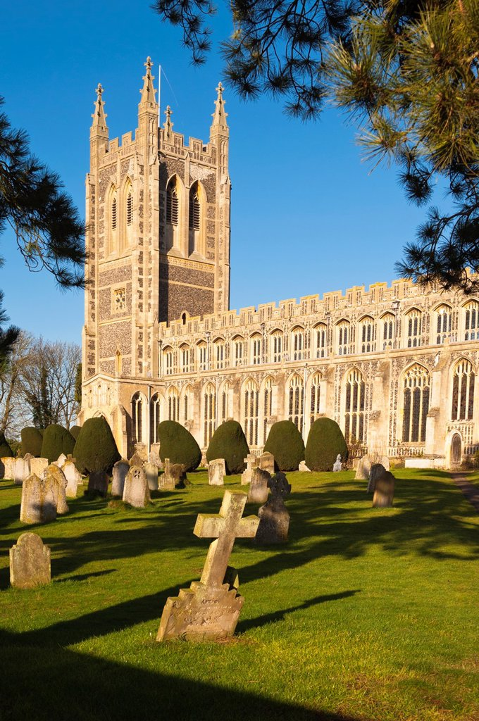 The Holy Trinity Church in Long Melford , Suffolk , England , Britain , Uk : Stock Photo