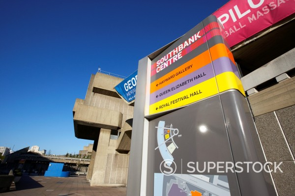 the hayward gallery at the southbank centre London England UK United kingdom : Stock Photo