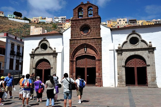 Stock Photo: 1566-1102158 Church of Nuestra Señora de la Asuncion, San Sebastian de la Gomera, Canary Islands, Spain